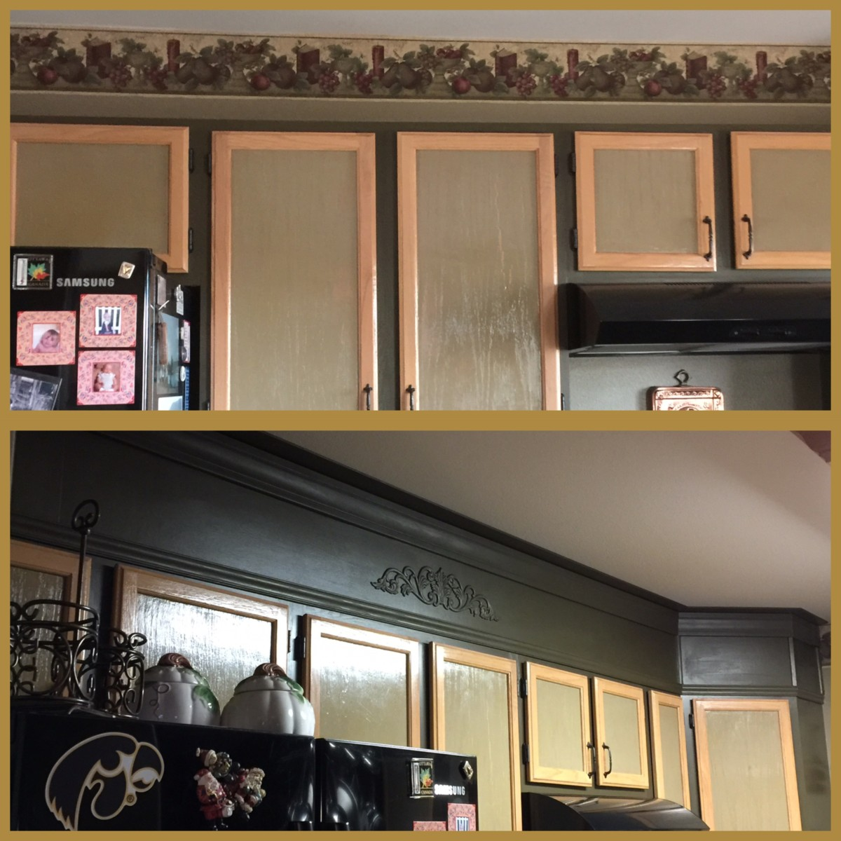 Space Above Kitchen Cabinets: Update The Space Above Kitchen Cabinets
